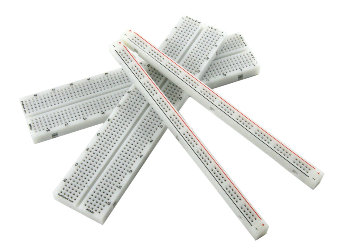 Bb1460 Solderless Plug In Breadboard Busboard Prototype Systems Transparent Showing The Metal Strips For Tie Features