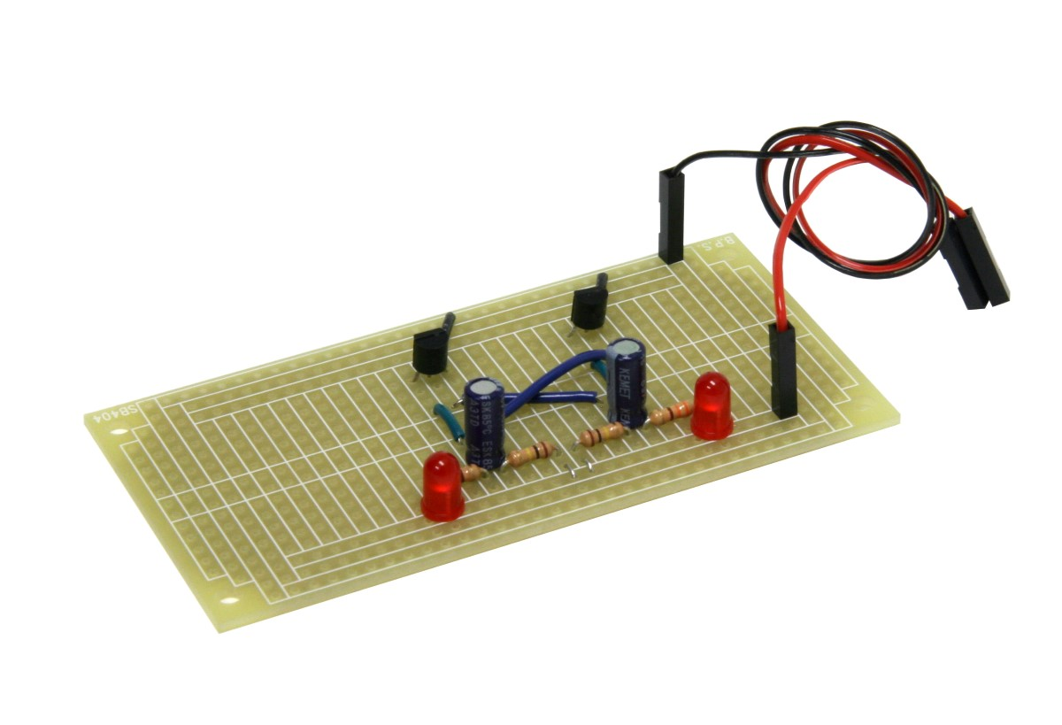 Jrg01 Pcb Blinky Lights Solder Kit Busboard Prototype Systems Catalog Prototyping Breadboard Wiring Kits To Make A Permanent Circuit