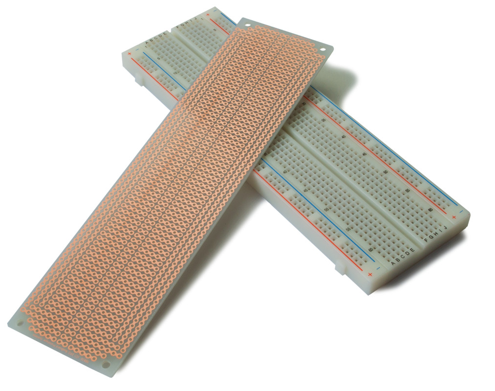Kit Bb830 Sb830 Breadboard Pcb Busboard Prototype Systems Transparent Solderless Showing The Metal Strips For Tie Features