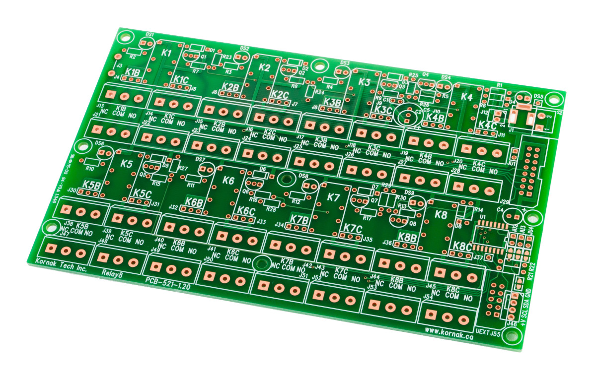 Pcb Relay8 Octal Relay Board Busboard Prototype Systems Nc Terminal Features