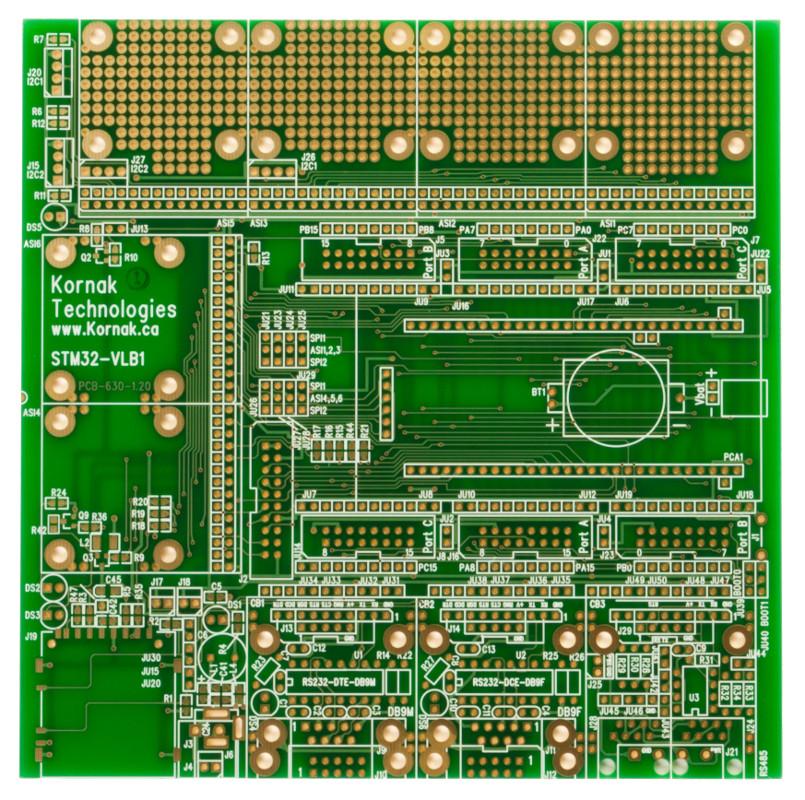PCB-STM32-VLB1 | STMicro Discovery-VL BaseBoard | BusBoard Prototype